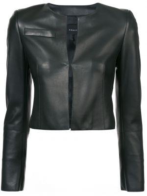 Кожаная куртка черная укороченная Akris