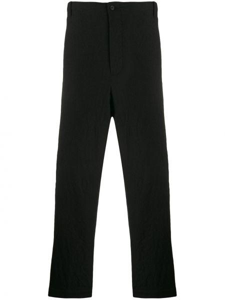 Черные прямые брюки с поясом на пуговицах новогодние Forme D'expression