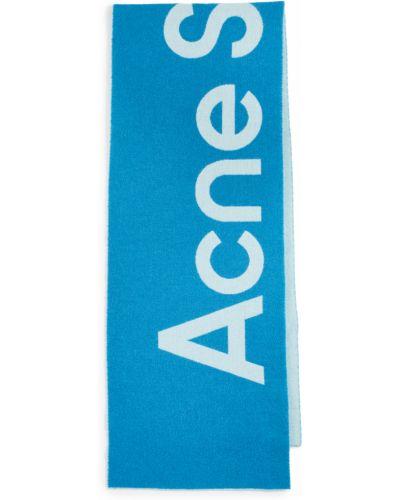 Szalik wełniany - niebieski Acne Studios