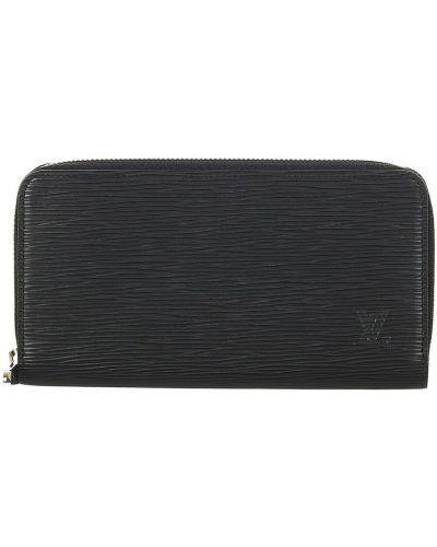 Czarny portfel skórzany Louis Vuitton Vintage
