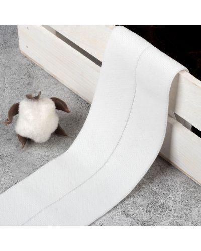 Белая резинка для волос на резинке арт узор
