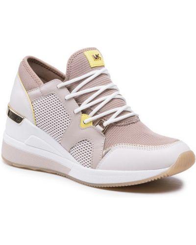 Beżowe sneakersy Michael Michael Kors