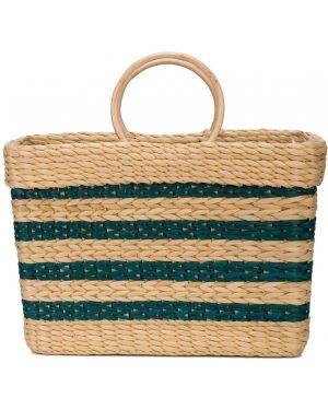 Соломенная сумка-тоут круглая Poolside