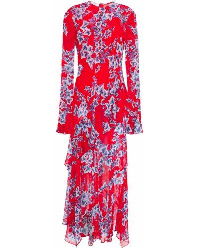 Облегченное асимметричное шифоновое платье миди Philosophy Di Lorenzo Serafini