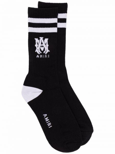 Черные носки с логотипом Amiri