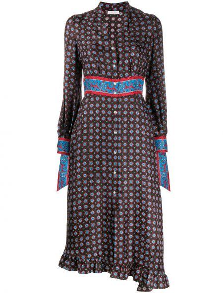 Платье миди на пуговицах с V-образным вырезом Sandro Paris