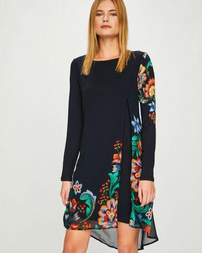Платье миди из вискозы прямое Desigual
