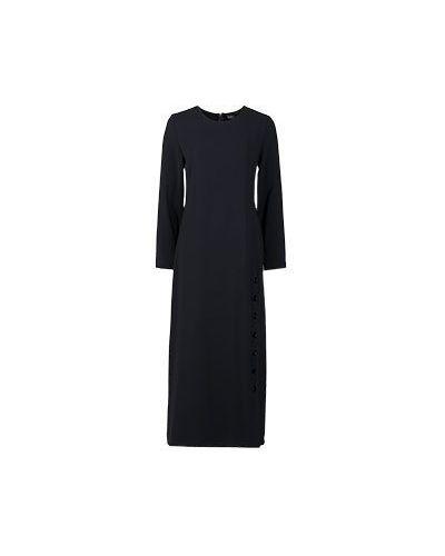 Платье из вискозы - черное Alter Ego
