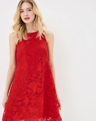 Красное прямое платье Trussardi Collection