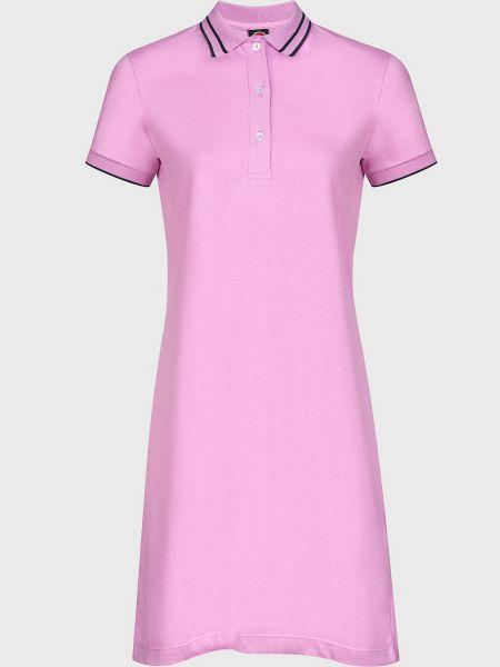Хлопковое розовое платье на пуговицах Colmar Originals