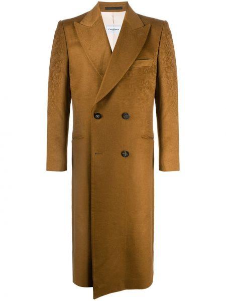 Klasyczny z kaszmiru brązowy płaszcz Casablanca