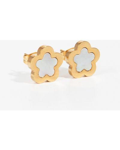 Золотые серьги золотого цвета Parfois