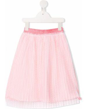 Różowa spódnica mini z haftem Billieblush