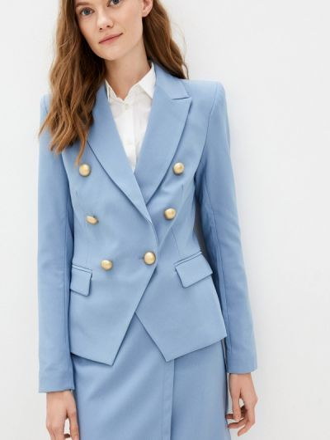 Голубой пиджак осенний Rinascimento