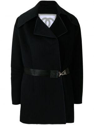 Шерстяная синяя спортивная куртка с поясом Chanel Pre-owned
