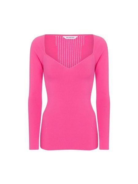 Sweter - różowy Balenciaga