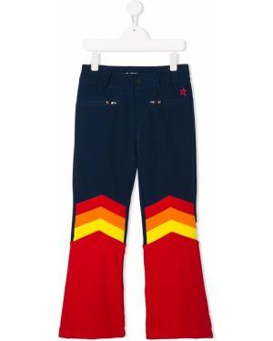 Niebieskie spodnie z paskiem z nylonu Perfect Moment Kids