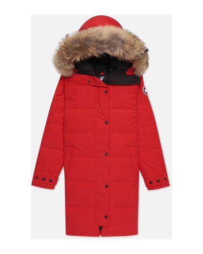 Хлопковая красная куртка с подкладкой Canada Goose
