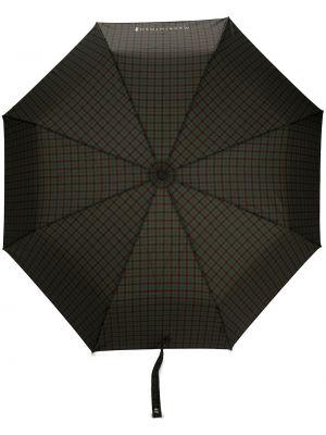 Brązowy automatyczny parasol z printem Mackintosh