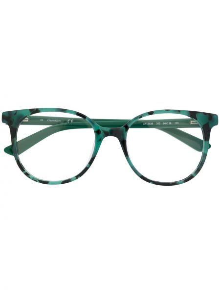 Zielone okulary Calvin Klein