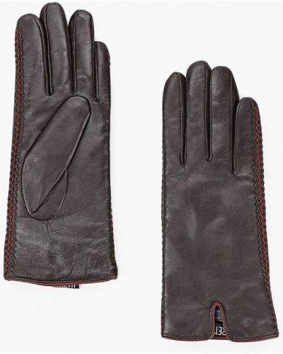 Кожаные коричневые кожаные перчатки Fabretti