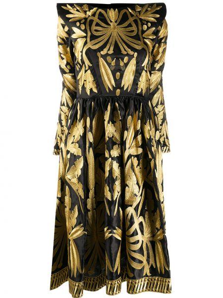 Шелковое платье мини - черное Yuliya Magdych