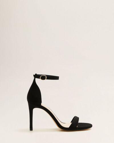Кожаные туфли на каблуке на шпильке Mango