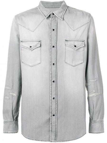 Koszula z długim rękawem klasyczna dżinsowa Saint Laurent
