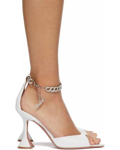 Открытые кожаные с ремешком сандалии Amina Muaddi