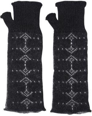 Rękawiczki wełniany z wzorem Saint Laurent