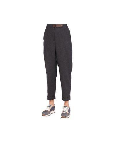 Серые шерстяные брюки Peserico