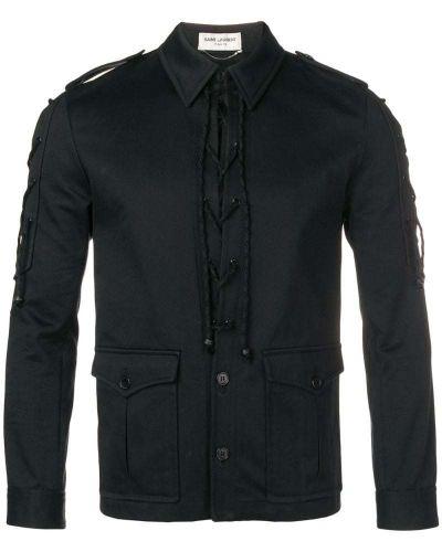 Рубашка с длинным рукавом с погонами с карманами Saint Laurent