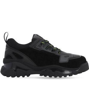 Кожаные кроссовки сетчатые с сеткой на шнуровке Rz Studio X Noova
