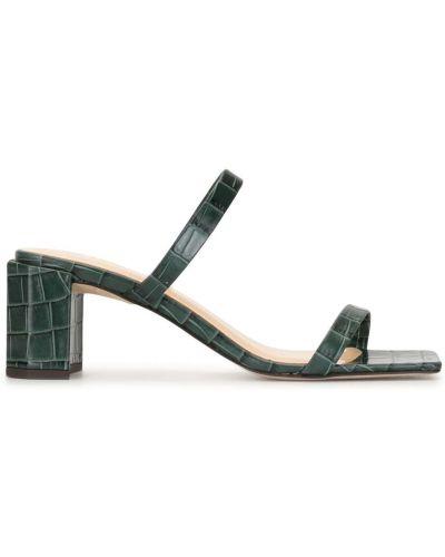 Кожаные тонкие мюли на каблуке квадратные By Far
