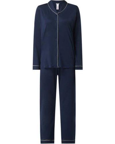 Niebieska piżama z długimi rękawami Hanro