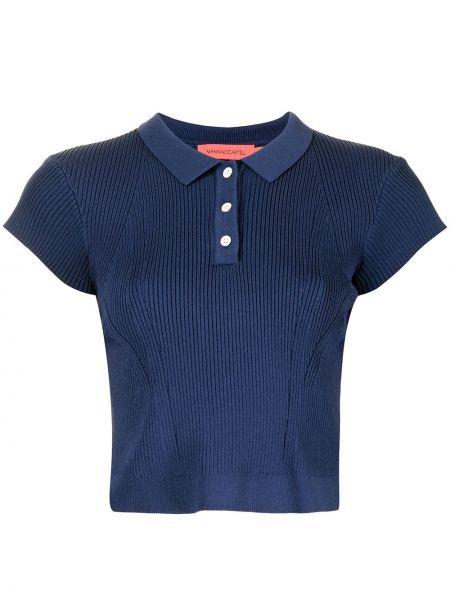 Рубашка из вискозы - синяя Manning Cartell