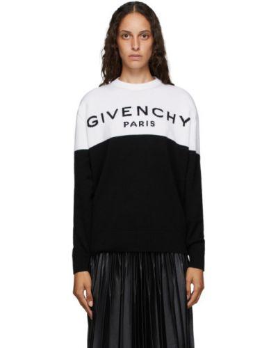 Z rękawami kaszmir czarny sweter z kołnierzem Givenchy