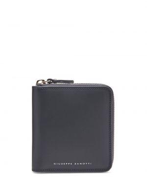 Niebieski portfel skórzany z printem Giuseppe Zanotti