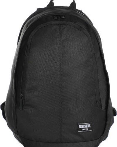 Мягкий спортивный черный рюкзак для ноутбука на бретелях Skechers
