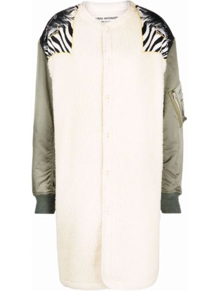 Белое шерстяное пальто Junya Watanabe