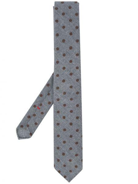 Галстук с цветочным принтом шерстяной Dell'oglio
