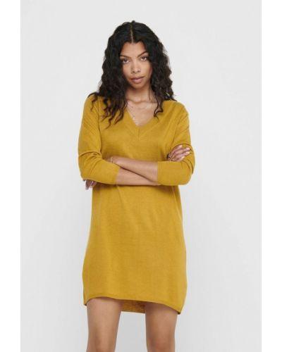 Желтое вязаное платье Jacqueline De Yong