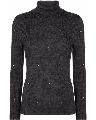 Серый шерстяной свитер на торжество Christopher Kane