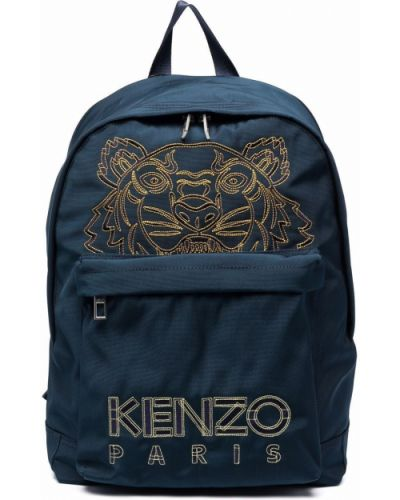 Plecak z haftem - niebieski Kenzo