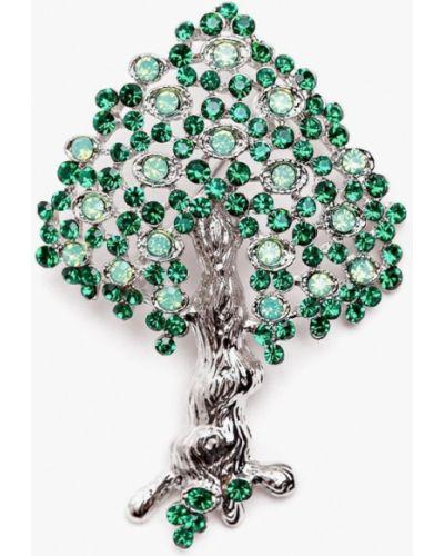 Брошь зеленый серебряный Patricia Bruni
