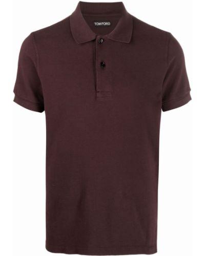 Красная рубашка с коротким рукавом с короткими рукавами Tom Ford