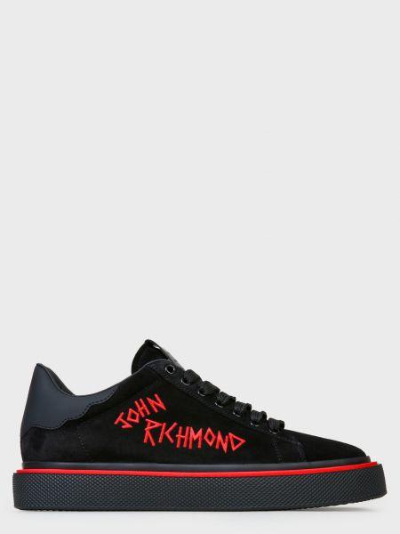 Кожаные кеды - черные John Richmond