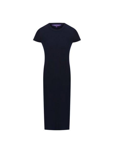Темно-синее приталенное футбольное платье с короткими рукавами Ralph Lauren
