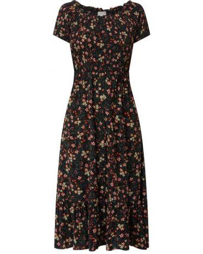 Czarna sukienka mini rozkloszowana z wiskozy Apricot