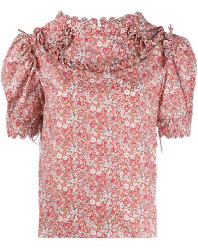 Блузка с рюшами с воротником-стойкой Horror Vacui